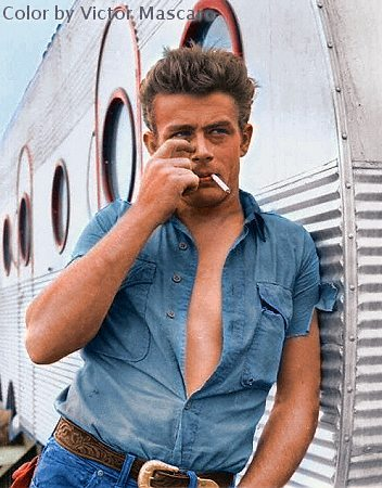 James Dean in color by Victor Mascaro