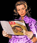Liz reading TV Guide