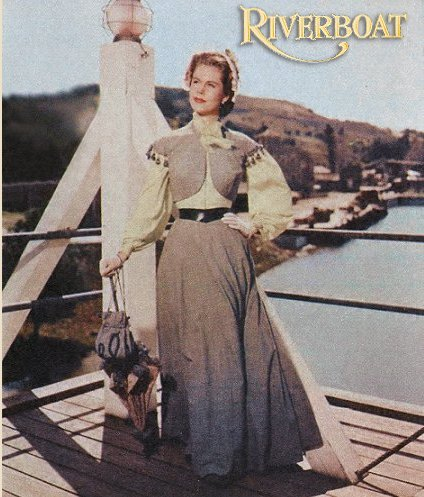 Color photo of Elizabeth Montgomery in Riverboat