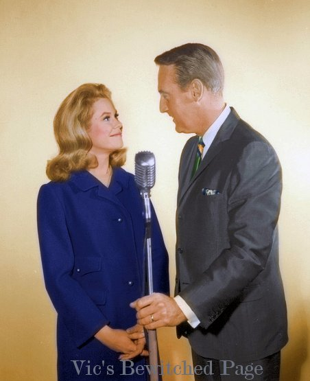Elizabeth Montgomery and Vin Scully